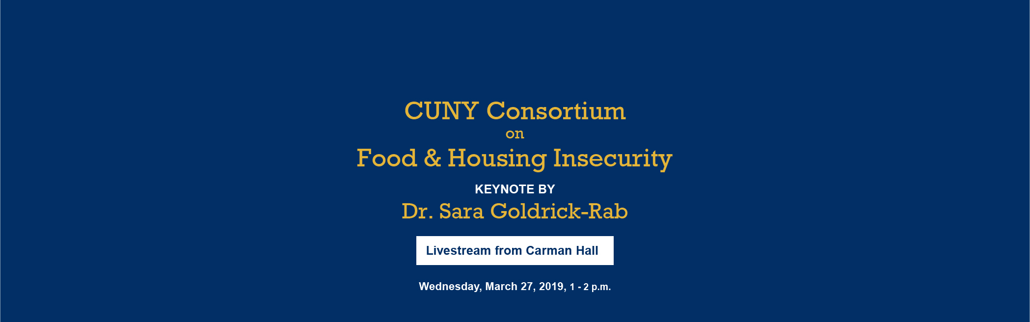 Food and Housing Insecurity on CUNY Campuses