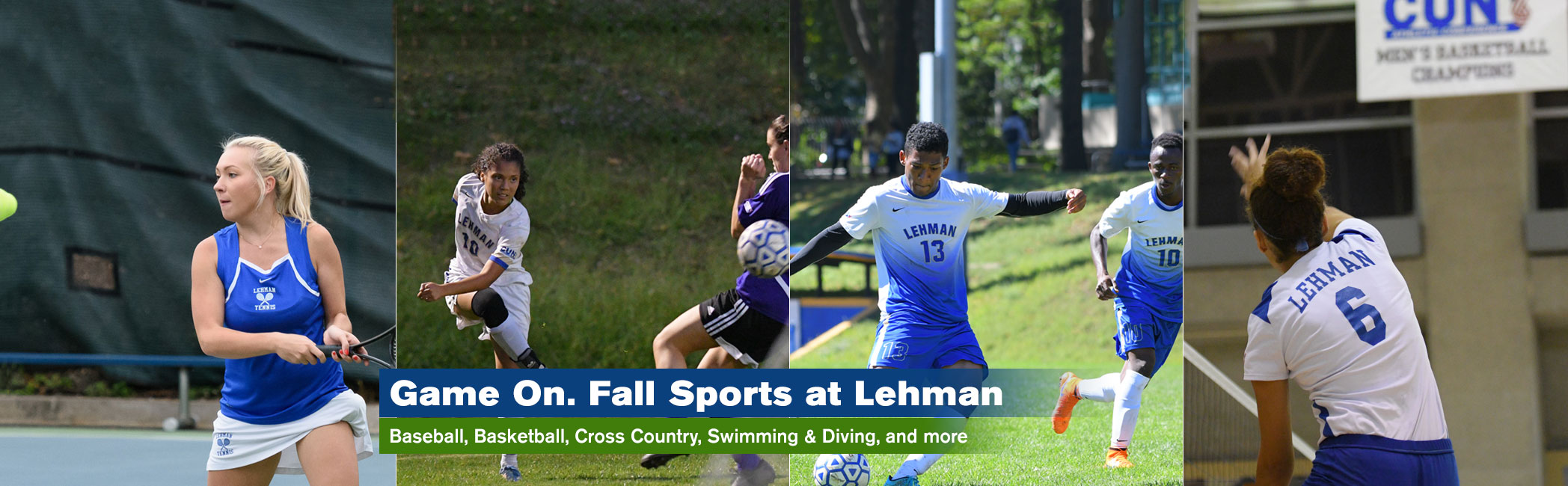 Lehman College Fall Sports Banner Image