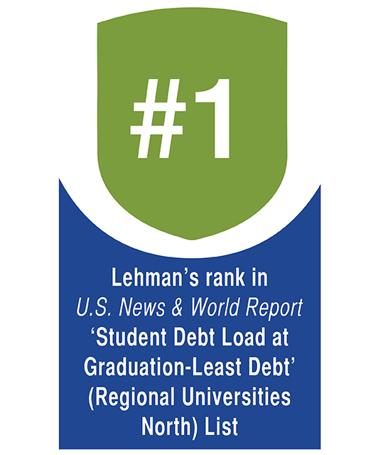 U.S. News Ranks Lehman No. 1 for Least Debt Upon Graduation among Northern Regional Universities