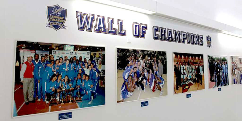 Lehman Athletics Unveils the Wall of Champions