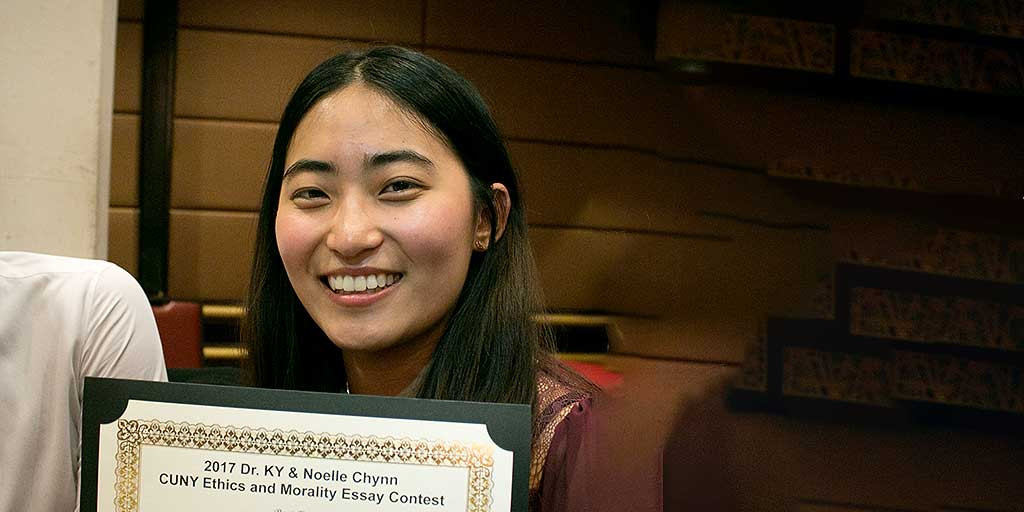 Lehman Student Sharon Lee Wins CUNY Ethics and Morality Essay Contest