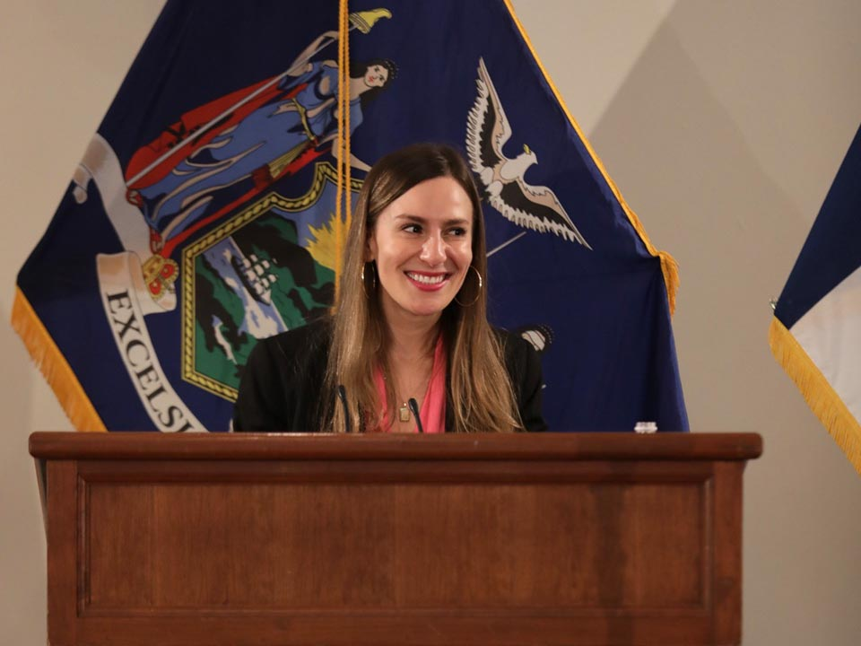 "State Senator Alessandra Biaggi Presses for ""Acts of Change"" in Lehman Lecture"