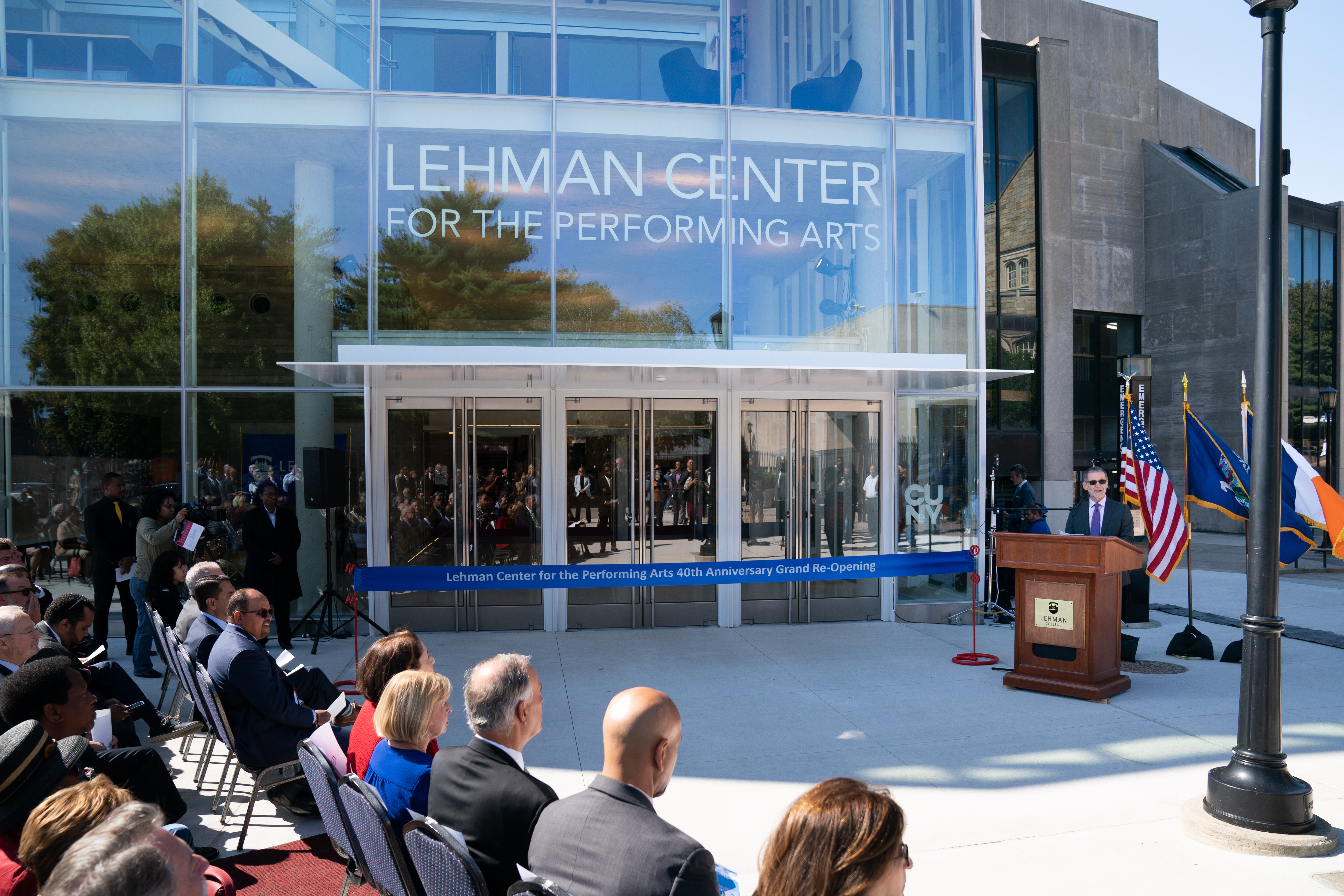 Photo of Lehman Center for the Performing Arts ribbon cutting ceremony